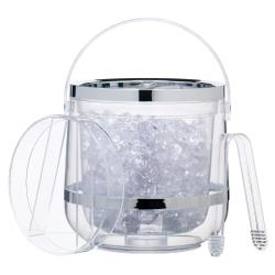 Double walled ice bucket, acrylic