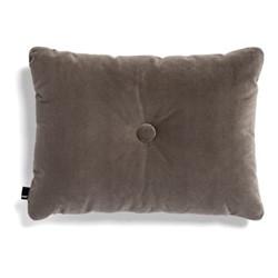 Dot Velvet cushion, W60 x H45cm, warm grey