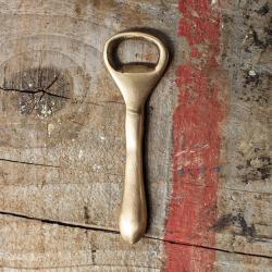 Bottle opener, 11.5cm, vintage gold finish