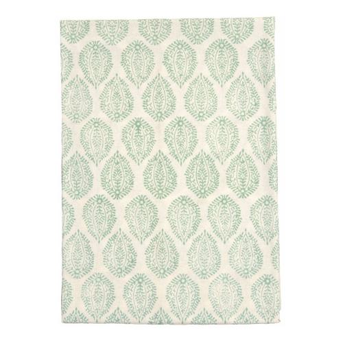 Leaf Tablecloth, 150 x 300cm, Green Cotton