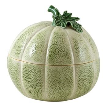 Melon Tureen, 3.7 litre - 23.5 x 25cm, green/orange