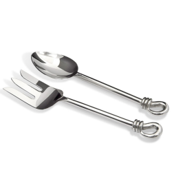 Polished Knot Salad servers, 24.5cm, stainless steel