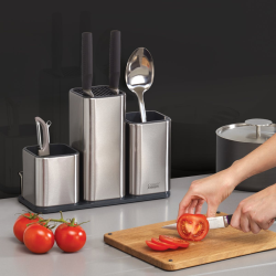 Counterstore 100 Counter storage, H23 x W31 x D12.5cm, Stainless Steel