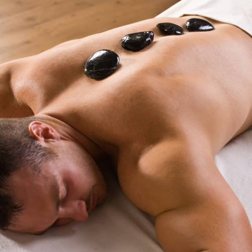 Restorative hot stone massage for him at Gentlemen's Tonic