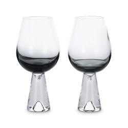 Tank Pair of wine glasses, Black
