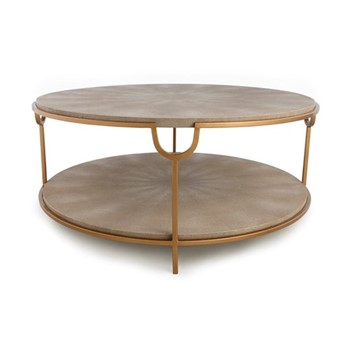 Katia Coffee table, H46 x D98cm, cream