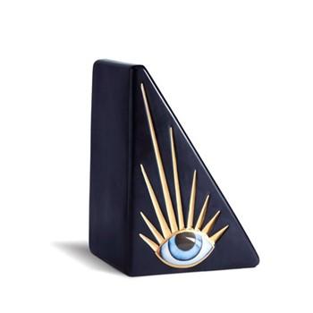 Lito Bookend, L18 x W12 x H11cm, blue/gold