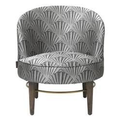 Club Lounge Chair, H77 x D66cm, golden fan