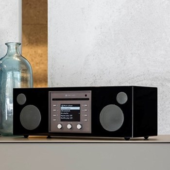 Musica Smart speaker and CD player, L40.5 x W16.6 x H14.3cm, piano black