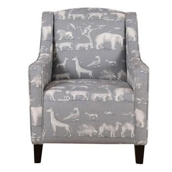 Finbar Chair, W71 x H95 x D77cm, kingdom storm