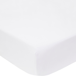 1000TC Cotton Sateen Double fitted sheet, 137 x 190cm, snow