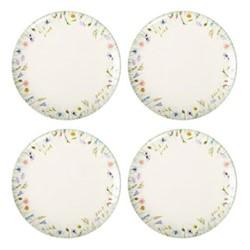 Set of 4 dinner plates W2.8 x H2.5cm