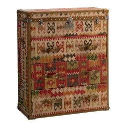 Howard Kilim Chest of drawers, H120 x W100 x D46cm