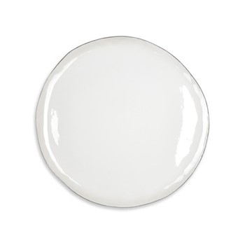 Silver Rim Dinner plate, D31cm, white and silver