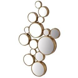 Circles Circles mirror, H103 x W61cm, gold