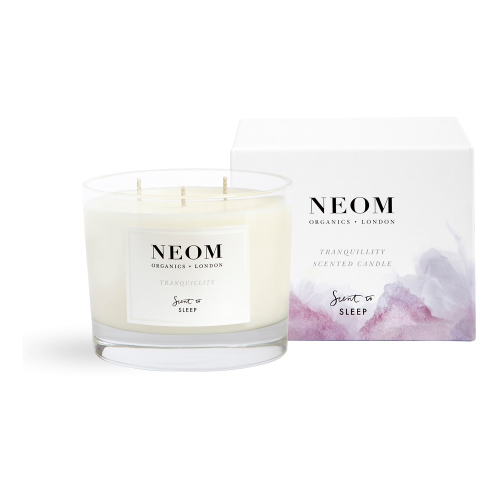 Scent to Sleep - Tranquillity 3 wick scented candle, White