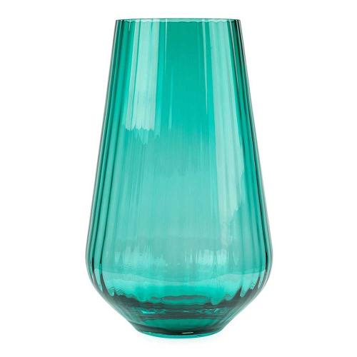 Optic Vase, H28 x W17cm, Green