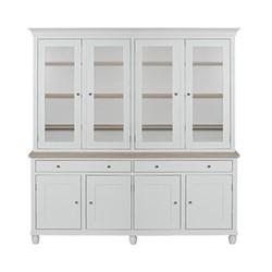 Suffolk Glazed dresser, W190 x D50 x H219cm, silver birch