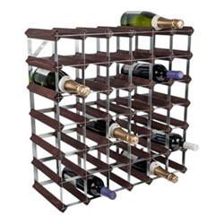 42 bottle wine rack, H62 x W62 x D23cm, dark/galvanised steel
