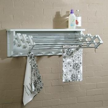 Extending clothes dryer, H30 x W90 x D65cm, chalk