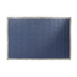 Courtly Check Rug, W 182.88 x L274.32cm, black & white, blue