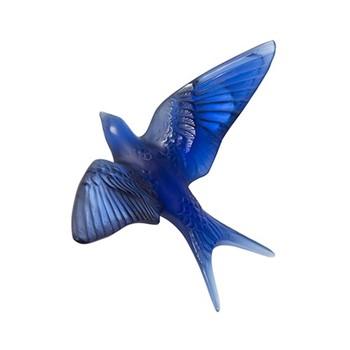 Hirondelles Wall sculpture, H76 x L150 x W213mm, sapphire blue