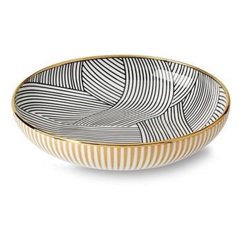 Lustre Pasta bowl, D21 x H5cm, black dhow