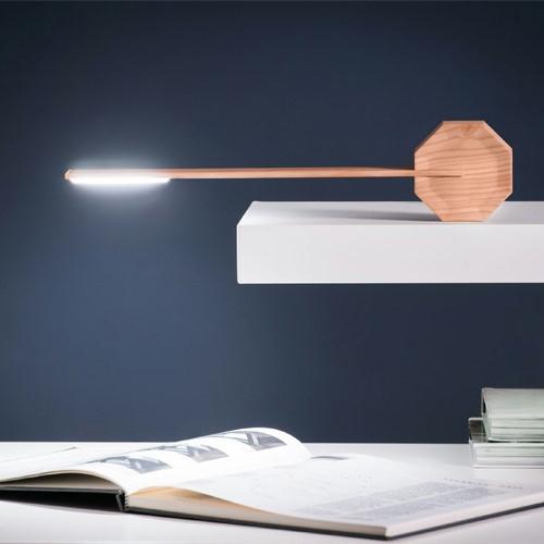Octagon Desk light, L8.5 x W4 x H38cm, Maple