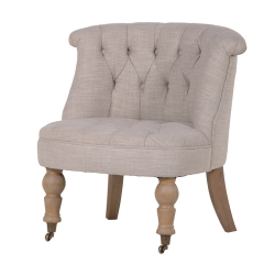 Buttoned Chair, 71 x 69 x 58cm, beige