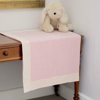 Baby blanket, W90 x L120cm, pink
