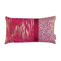 Three Grasses Cushion, H30 x W50cm, hot pink/soft gold