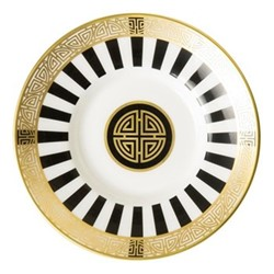 Satori Black Coffee saucer, 11.5cm, black/white/gold