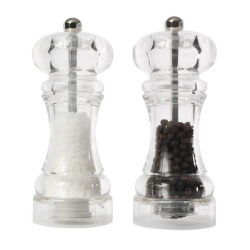 Capstan Set of salt and pepper mills, 14.5cm, Clear Acrylic