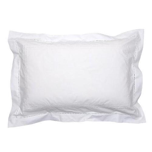 Matilda Oxford pillowcase, 50 x 75cm, White 200 Thread Count Cotton
