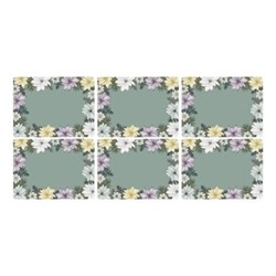 Atrium Set of 6 placemats, 30 x 23cm, green