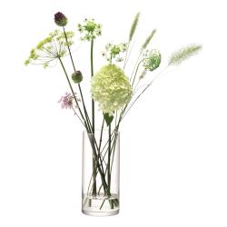 Column Vase, 28 x 13cm, clear