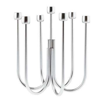 Kyma Candelabra, Dia25 x H30cm, stainless steel