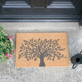 Tree of Life Doormat , L60 x W40 x H1.5cm, grey