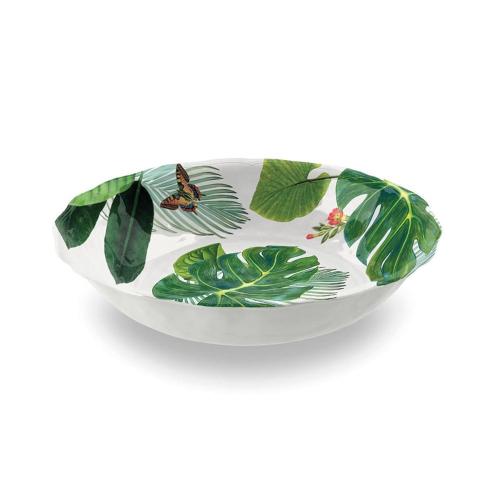 Amazon Floral Melamine salad bowl, 35cm, Green