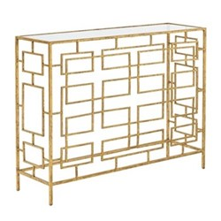 Palapeli Console table, L101 x W30 x H77cm, gold