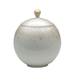 Monsoon - Lucille Gold Covered sugar bowl, 38cl - 10 x 12cm