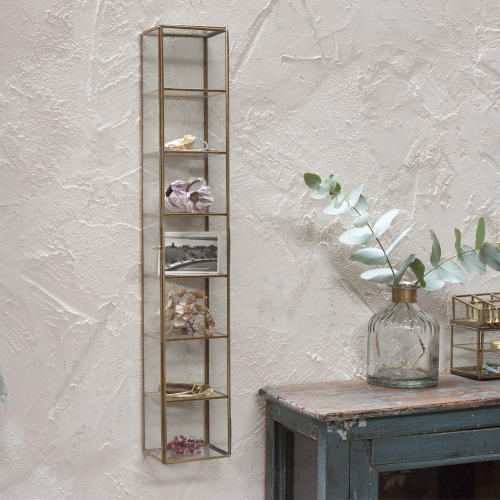 Bequai Wall hung cabinet, 60.5 x 10 x 9cm, Antique Brass