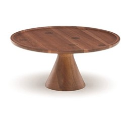 Deco Dot Cake stand, acacia wood