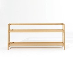 Agnes by Kay + Stemmer Long shelving unit, W160 x D31 x H68cm, oak