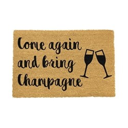 Drink Doormat - Bring Champagne, black/brown