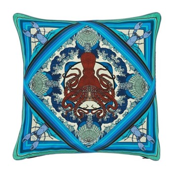 Octopussy Cushion, L45 x W45cm, blue