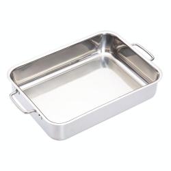 Deep roasting pan, 32 x 23cm, Stainless Steel