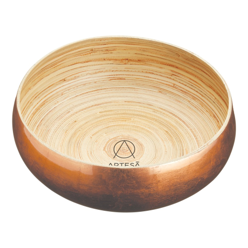 Serving bowl, 26cm, Copper Finish Bamboo