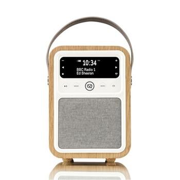 Monty DAB radio & bluetooth speaker, H18.6 x W13 x D10cm, oak