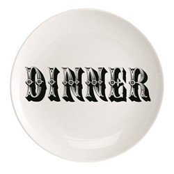 Dinner Plate, Dia25.5cm, black/white